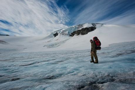 One of the endless glacier crossings during my month-long trek.